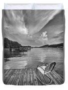 Relaxing On The Dock Duvet Cover