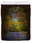 Relief Road  Blue Ridge Parkway Duvet Cover by John Haldane