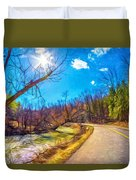 Reluctant Ontario Spring 3 - Paint Duvet Cover
