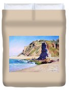 Remains Of Ancient Constructions On Seacoast  Duvet Cover