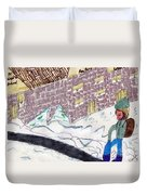 Remember When We Walked To School Duvet Cover