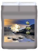 Reminders Of Peace Duvet Cover