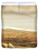 Remote Roads And Foggy Coastlines Duvet Cover