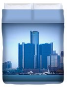 Gm Renaissance Center In Downtown Detroit, Michigan Duvet Cover