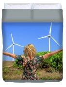 Renewable Energy Concept Duvet Cover
