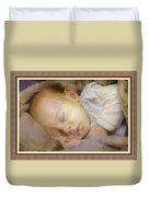 Renoircalia Catus 1 No. 2 - Adorable Baby L B With Decorative Ornate Printed Frame. Duvet Cover