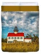 Renovated East Point Lighthouse Duvet Cover