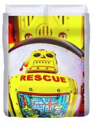 Rescue Yellow Bot Duvet Cover