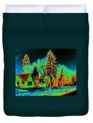 Residential Spokane In Cosmic Winter Duvet Cover