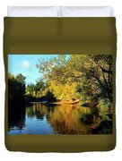 Yamhill River Reflections Duvet Cover