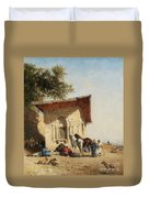 Rest By The Oasis Duvet Cover
