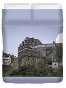 Restaurant At Rheinfels Castle Duvet Cover