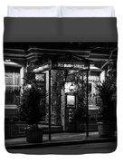 Restaurant Jeanne D'arc Bw Duvet Cover