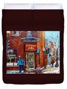Restaurant John Montreal Duvet Cover