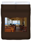 Restaurant On A Beach In Tel Aviv Israel Duvet Cover