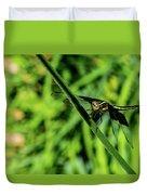 Resting Alert Dragonfly Duvet Cover