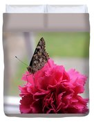 Resting Butterfly Duvet Cover by Myrna Migala