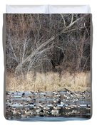Resting Canadian Geese Duvet Cover