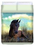 Resting Foal Duvet Cover