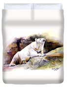 Resting Polar Bear Duvet Cover