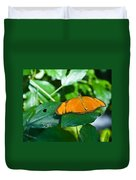 Resting--tropical Butterfly Duvet Cover
