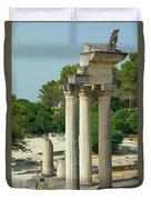 Restored Roman Columns In Glanum Duvet Cover