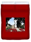 Resurrection Of Jesus Statue Duvet Cover by Rose Santuci-Sofranko