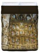 Retable - Toledo Cathedral - Toledo Spain Duvet Cover