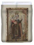Retablo (our Lady Of Carmel) Duvet Cover