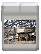 Retired Farm Wagon Duvet Cover