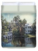 Retirement On The River 01 Textured Duvet Cover