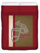Retro 49ers Art Duvet Cover