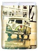 Retro 60s Toy Van Duvet Cover