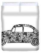 Retro Beetle Car 2 Duvet Cover