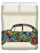 Retro Beetle Car 3 Duvet Cover