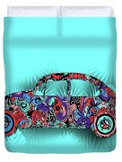 Retro Beetle Car 5 Duvet Cover