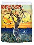 Retro Bicycle Ad 1898 Duvet Cover