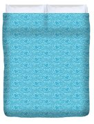 Retro Blue Pattern Duvet Cover