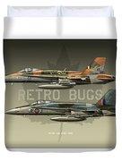 Retro Bugs Duvet Cover