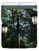 Retro Chic Streetlamps - Old World Charm With A Modern Twist Duvet Cover