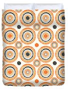 Retro Circles Pattern Duvet Cover