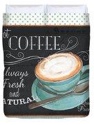Retro Coffee 1 Duvet Cover