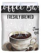 Retro Coffee Shop 2 Duvet Cover