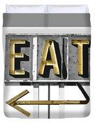 Retro Diner Sign Duvet Cover