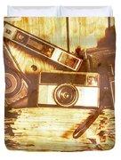 Retro Film Cameras Duvet Cover