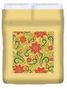 Retro Floral Seamless Pattern Duvet Cover