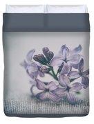 Retro Lilac Flower Duvet Cover