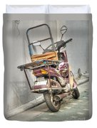 Retro Moped #2 Duvet Cover