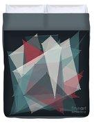 Retro Polygon Pattern Duvet Cover