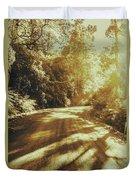 Retro Rainforest Road Duvet Cover